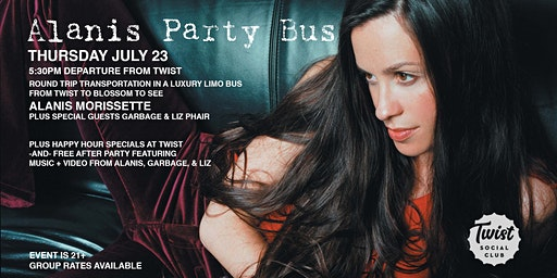 Alanis Morissette Party Bus - Twist to Blossom