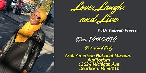 Love, Laugh and Live With Nadirah P: ONE NIGHT ONLY