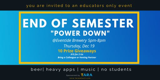 End-of-Semester Power Down by Tara