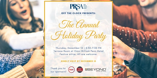 PRSA Pittsburgh Annual Holiday Party by Off the Clock