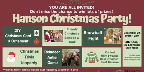 Hanson Christmas Party and Open House tickets