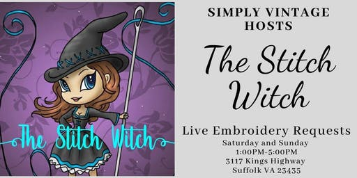 Live Embroidery with The Stitch Witch