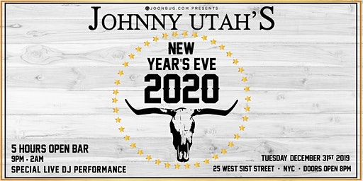 Johnny Utah's New Years Eve 2020 Party
