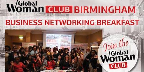 GLOBAL WOMAN CLUB BIRMINGHAM: BUSINESS NETWORKING BREAKFAST - FEBRUARY tickets