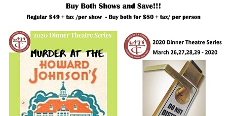 Dinner Theatre 2- for - 1 Special tickets