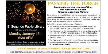 Passing the Torch - Estate Planning Workshop tickets
