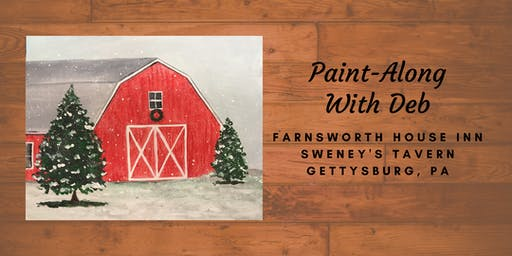 Red Winter Barn Paint-Along - Farnsworth House Inn Tavern