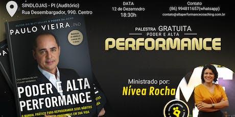Palestra Poder e Alta Performance ingressos