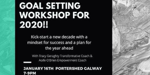 Goal setting workshop to kick-start 2020!!