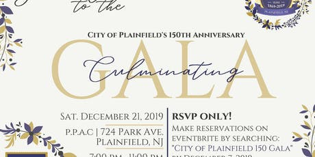 City of Plainfield 150th Gala tickets