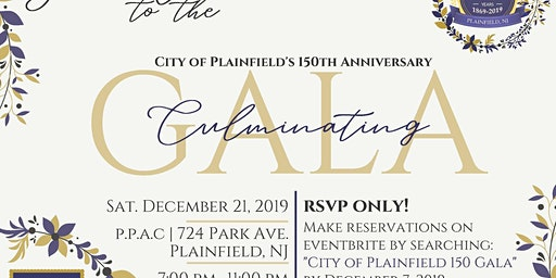 City of Plainfield 150th Gala