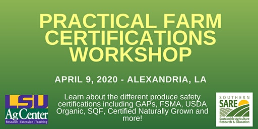 Practical Farm Certifications Workshop