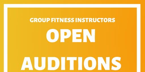 Group Fitness Instructors Open Auditions