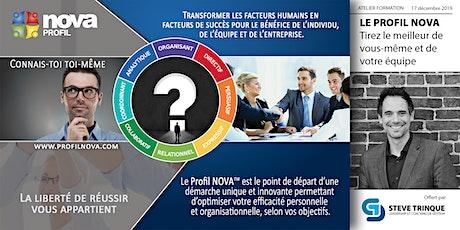 Le profil NOVA :  Tirez le meilleur de vous-même et de votre équipe. tickets