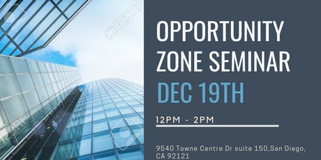 Opportunities within Opportunity Zones tickets