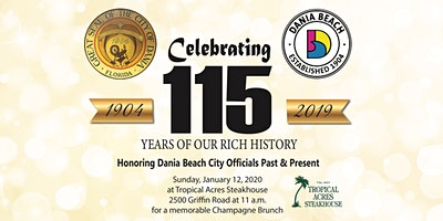 Dania Beach 115 Year Anniversary Champagne Brunch