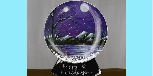 Snow Globe Wonderland Paint and Sip