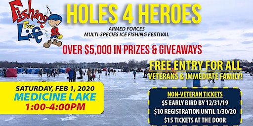 2020 Holes 4 Heroes: Multi-Species Ice Fishing Tournament-Medicine Lake, Plymouth