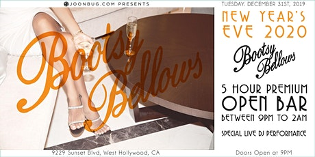 Bootsy Bellows NYE '20   NEW YEAR'S EVE PARTY tickets