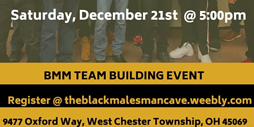 The Black Males Mancave team building event