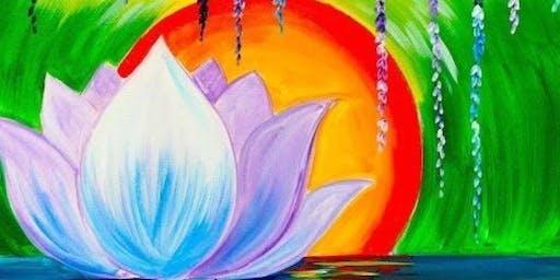 Peaceful Lotus Flower Paint Party