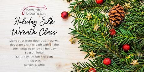 Kid's Silk Holiday Wreath Class tickets