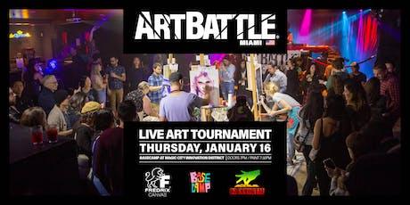 Art Battle Miami - January 16, 2020 tickets