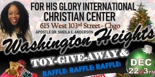 For His Glory International Christian Church Christmas Giveaway