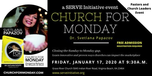Churches Impacting the Marketplace: A SERVE Event with Dr. Svetlana Papazov