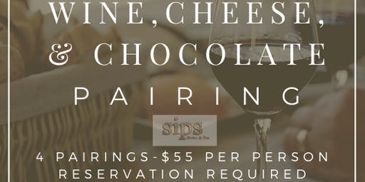 WINE, CHEESE, & CHOCOLATE PAIRING
