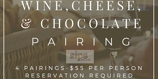 WINE, CHEESE, & CHOCOLATE PAIRING