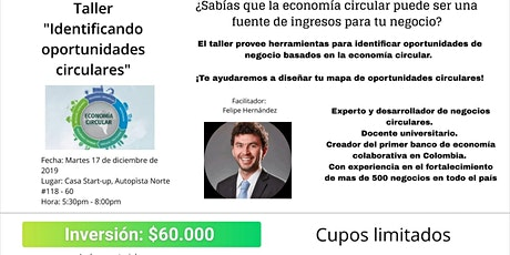 """Taller """"Identificando oportunidades circulares"""" boletos"""