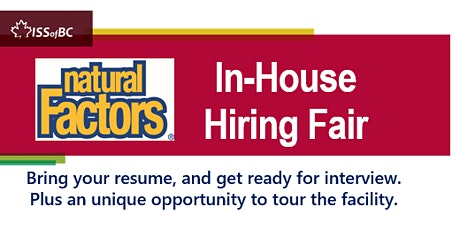 Natural Factors In-house Hiring Fair tickets