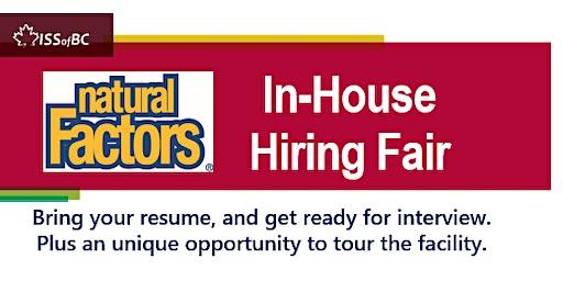 Natural Factors In-house Hiring Fair