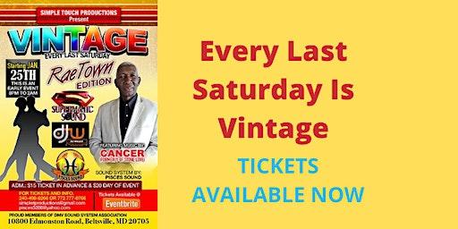Vintage Saturdays - January 25, 2020