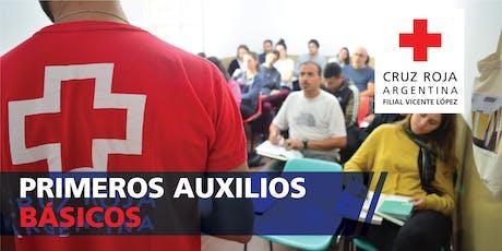 Curso Primeros Auxilios 30hs 01/02/2020 (08.30 a 13.30hs) entradas