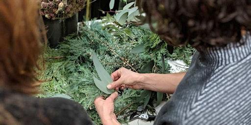 Seasonal Wreath Workshop at Occidental Brewing
