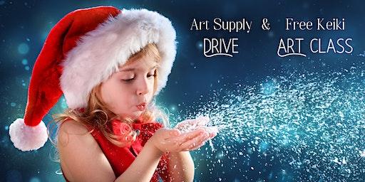 Kid's Art Supply Drive & Free Art Class