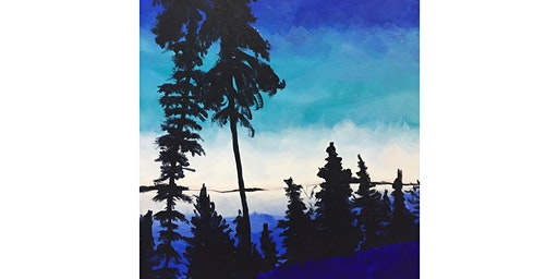 PNW Forest Ridge Paint & Sip Pint Night - Art Painting, Drink & Food