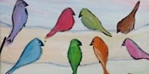 Birds On A Wire Paint & Sip Night - Art Painting, Drink & Food