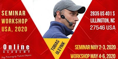 Tobias Oleynik USA 2020 Seminar and Workshop tickets