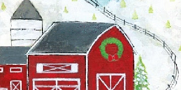 Adults Class Painting Red Barn in the Winter