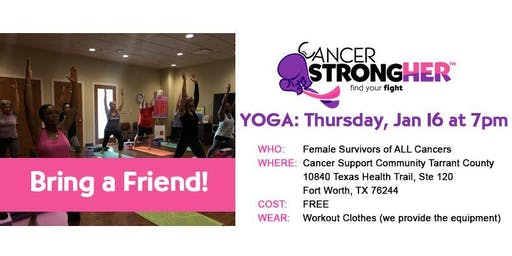 Cancer StrongHER Yoga - Free January 2020 Class