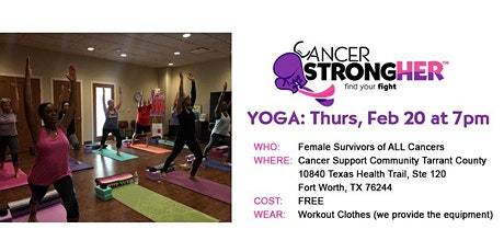 Cancer StrongHER Yoga - Free February 2020 Class tickets