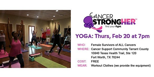 Cancer StrongHER Yoga - Free February 2020 Class