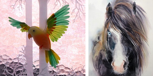 Free Artist Demonstrations: Papercraft and Watercolour