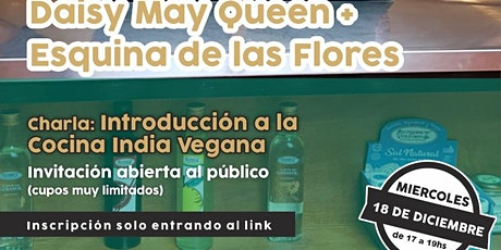 Introducción a la Cocina India Vegana con Daisy May Queen entradas