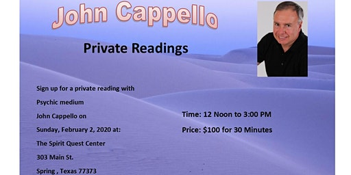 Private Reading with John Cappello