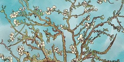 Almond Blossoms by Van Gogh Paint & Sip Night - Art Painting, Drink & Food