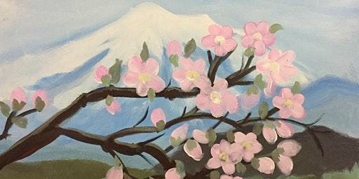 Mt. Baker Cherry Blossoms Paint & Sip Night - Art Painting, Drink & Food